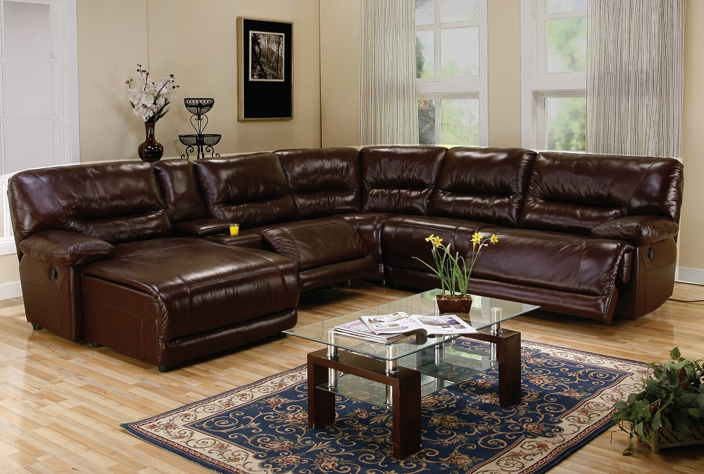 Home / Living / Sectionals / Recliner Leather Sectionals / Fedora