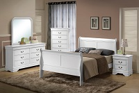 Louis Phillip White Bedroom Set