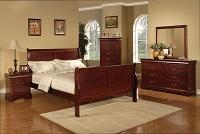 Louis Phillip Cherry Bedroom Set