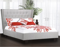 R-167 Upholstered Bed