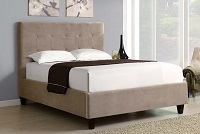 Tan I-5900Q Upholstered Bed