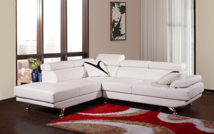 Meg 2850 leather sectional furtado furniture for Meuble belisle sectionnel