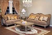 Abby-Light Fabric Sofa Set