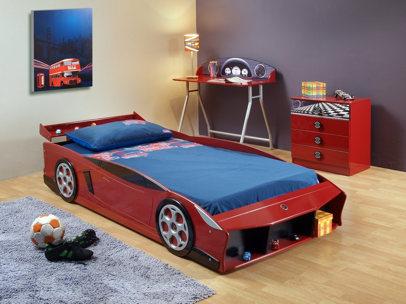 Bedroom chairs for small spaces bedroom chairs modern chairs - Cha 387 Red Sports Car Bed Furtado Furniture
