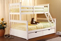 GRE-4041W Wooden Bunk Bed