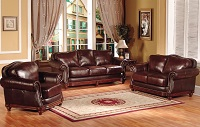 George Town Leather Sofa Set