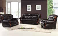 Graham Leather Sofa Set
