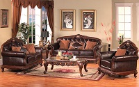 Harper Leather Sofa Set
