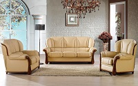 Joe Leather Sofa Set