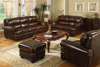 Kanton Leather Sofa Set