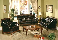Lisbon Leather Sofa Set