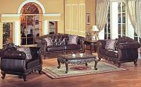Panama Leather Sofa Set