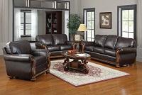 Regency Leather Sofa Set