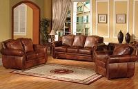 Sofia Leather Sofa Set