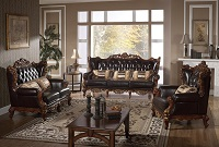 Troy Leather Sofa Set
