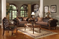 Wills Leather Sofa Set