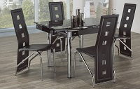 R-3401-3402-5pcs Glass Dinette