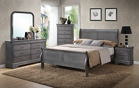 Louis Phillip Grey Bedroom Set