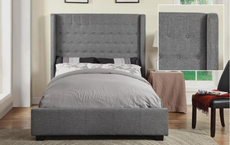 Grey Upholstered Bed Frames Queen
