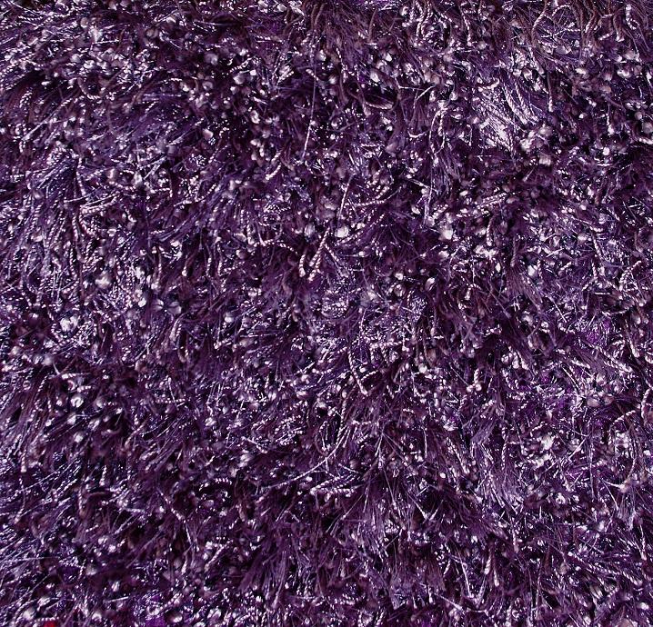 WHI Purple Mambo Handmade Shag Rug