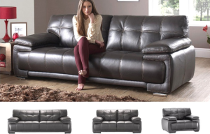 IF-8060 Leather Sofa Set