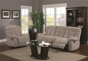 KW-97520 Recliner Fabric Sofa Set