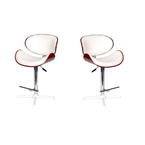 MDS-51-034 Swan Leather Bar Stool