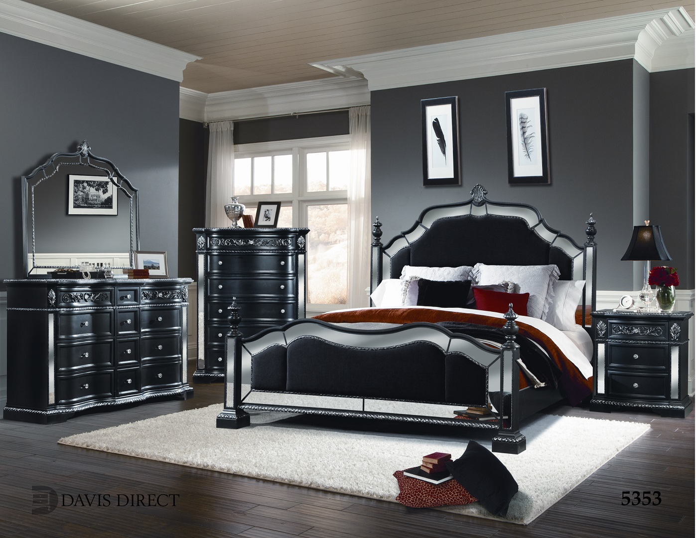 Gl2827 spain bedroom set furtado furniture for Bedroom furniture spain