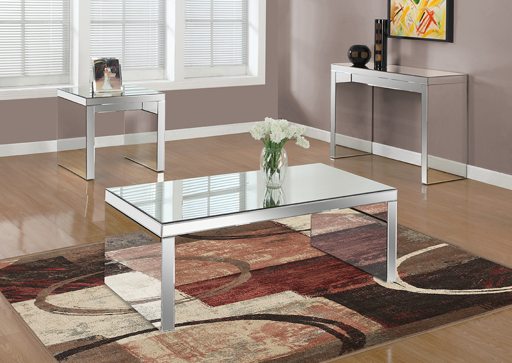 I-3715 Mirrored Coffee Table - Mirrored Coffee Table Archives - Furtado Furniture