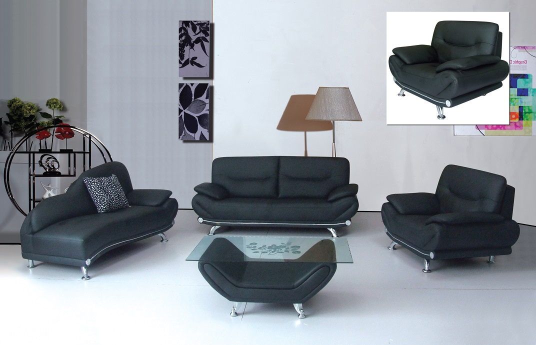 Beau Lindsay Black Sofa