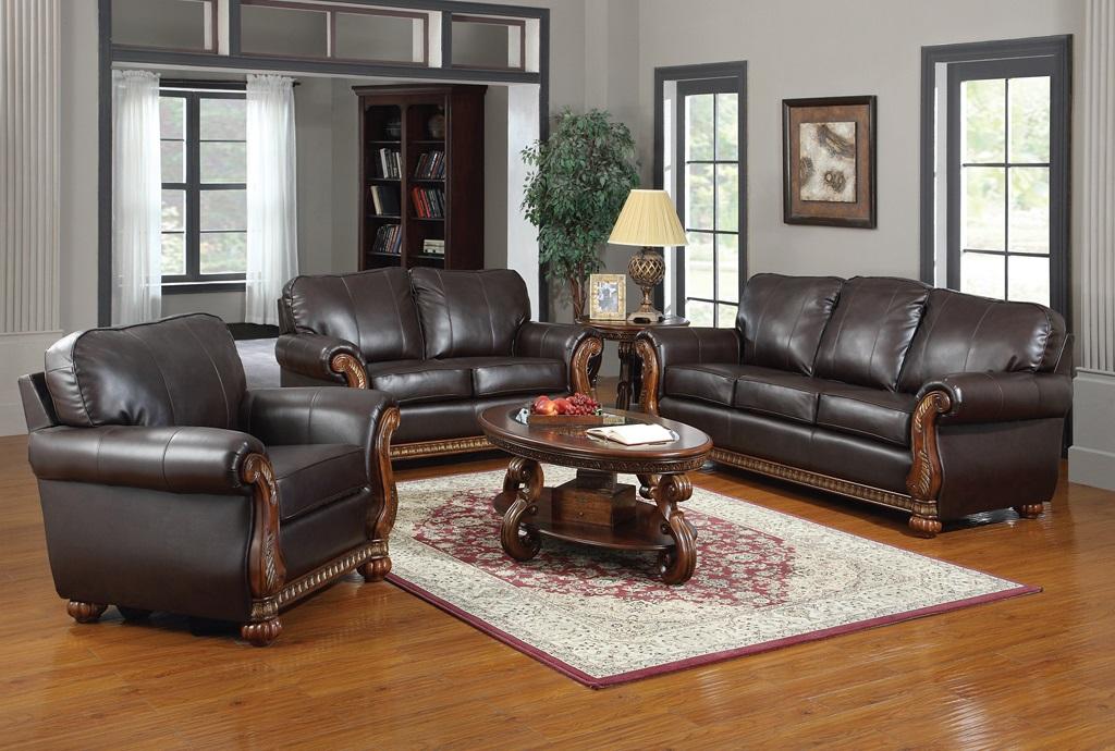 Regency Leather Sofa Set Furtado Furniture