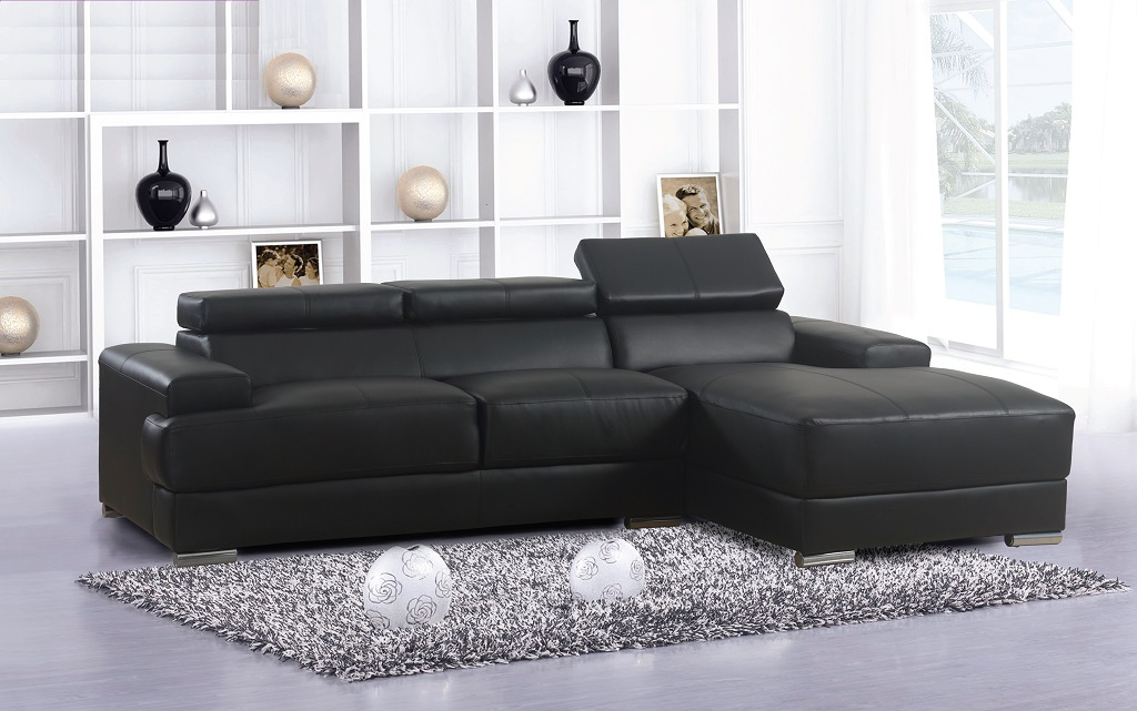 R1210 Black Sofa Lounger
