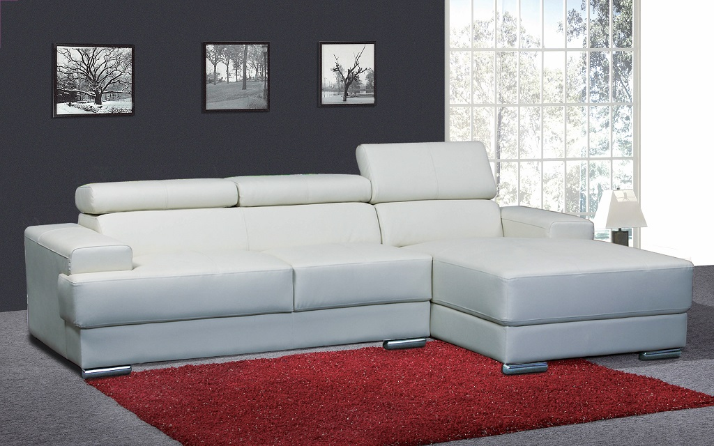 R1210 White Sofa Lounger