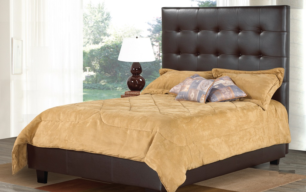 R161 Upholstered Leather Bed
