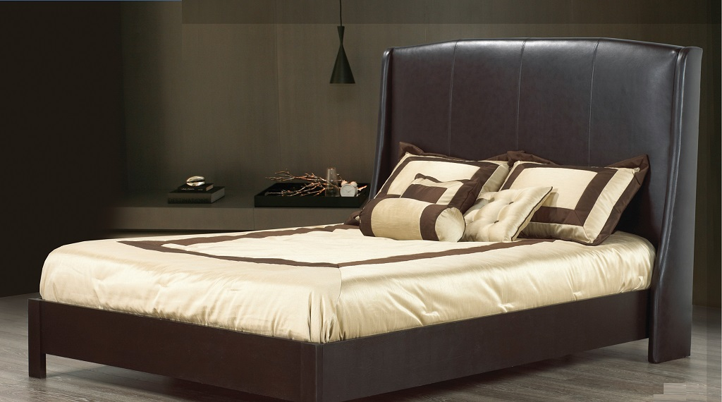 R196 Upholstered Leather Bed