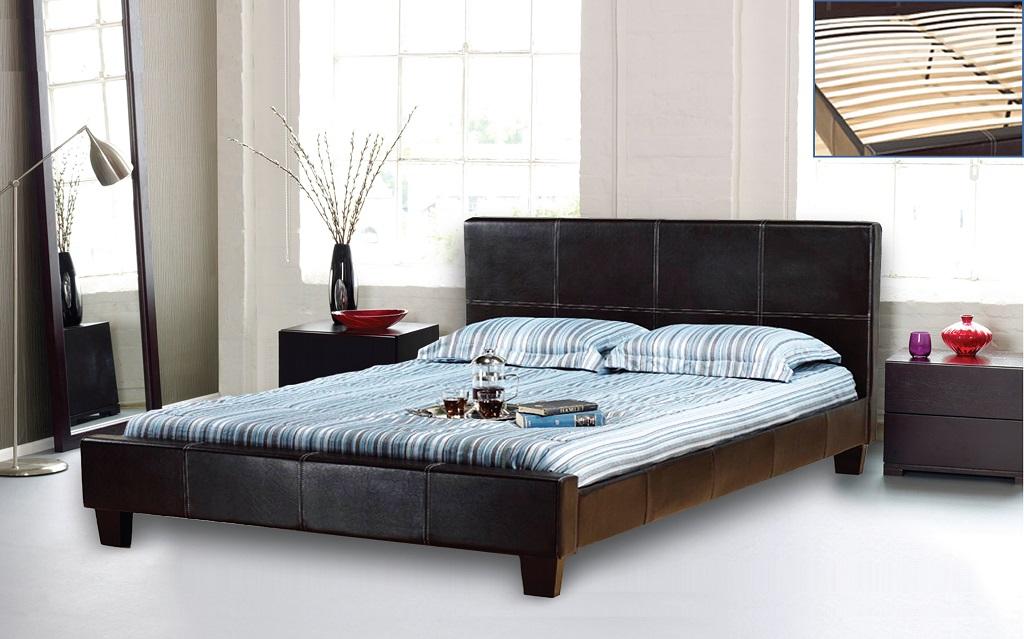 R2361 Upholstered Espresso Bed