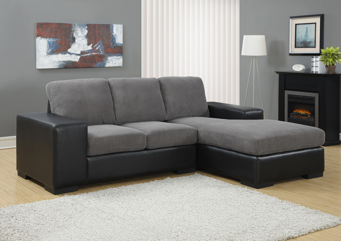 I8200GB Grey Fabric Lounger