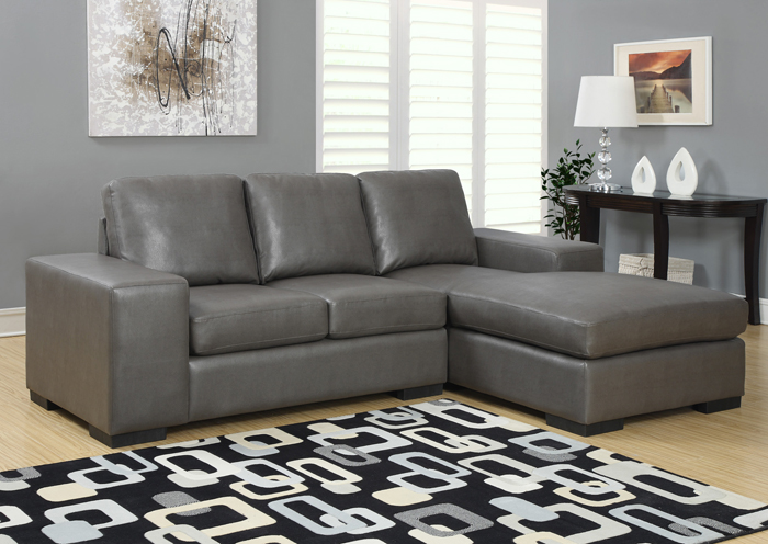I8200GY Grey Leather Lounger