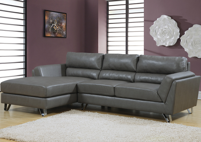 I8210GY Grey Leather Lounger