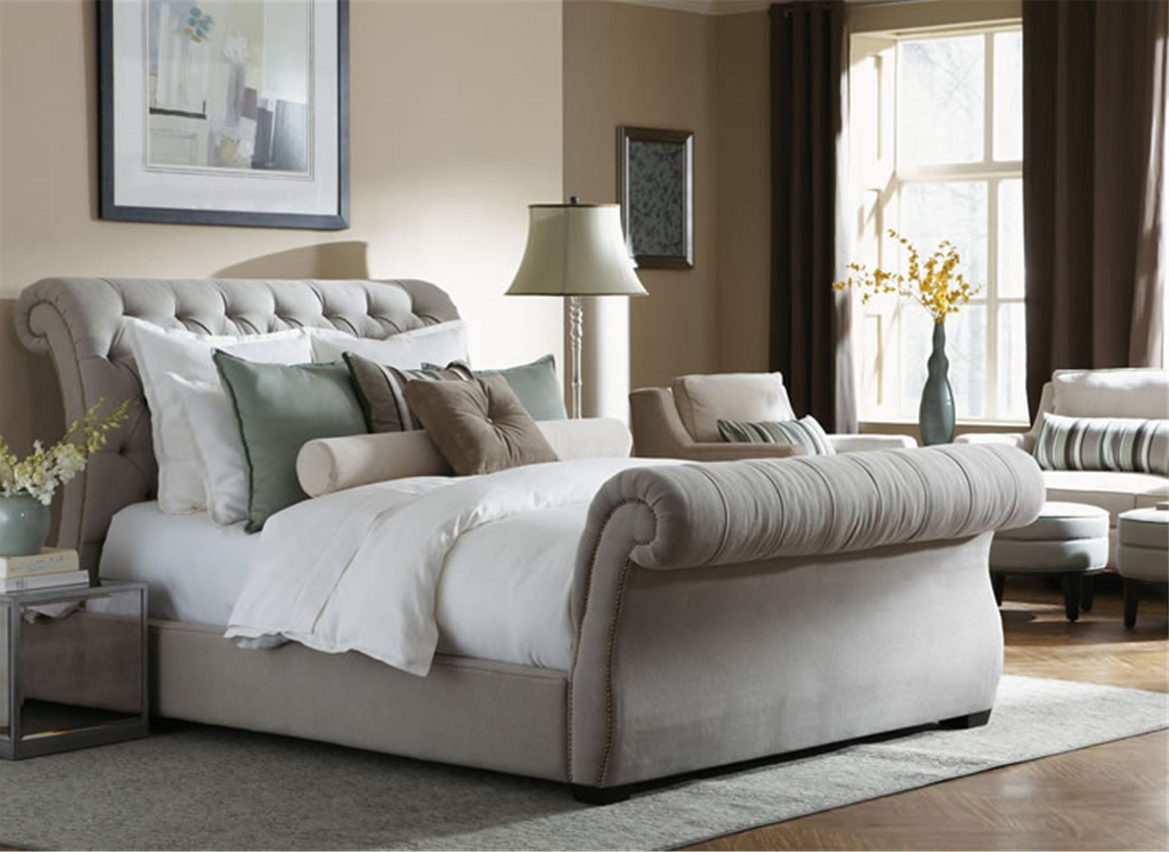 R-187 Upholstered Bed