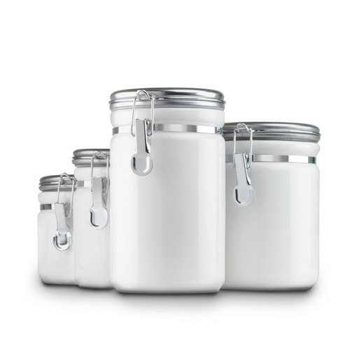 STA-03922MR-W Food Canister 4pcs Set