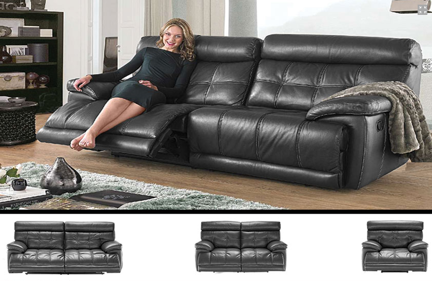 IF-8005 Leather Sofa Set
