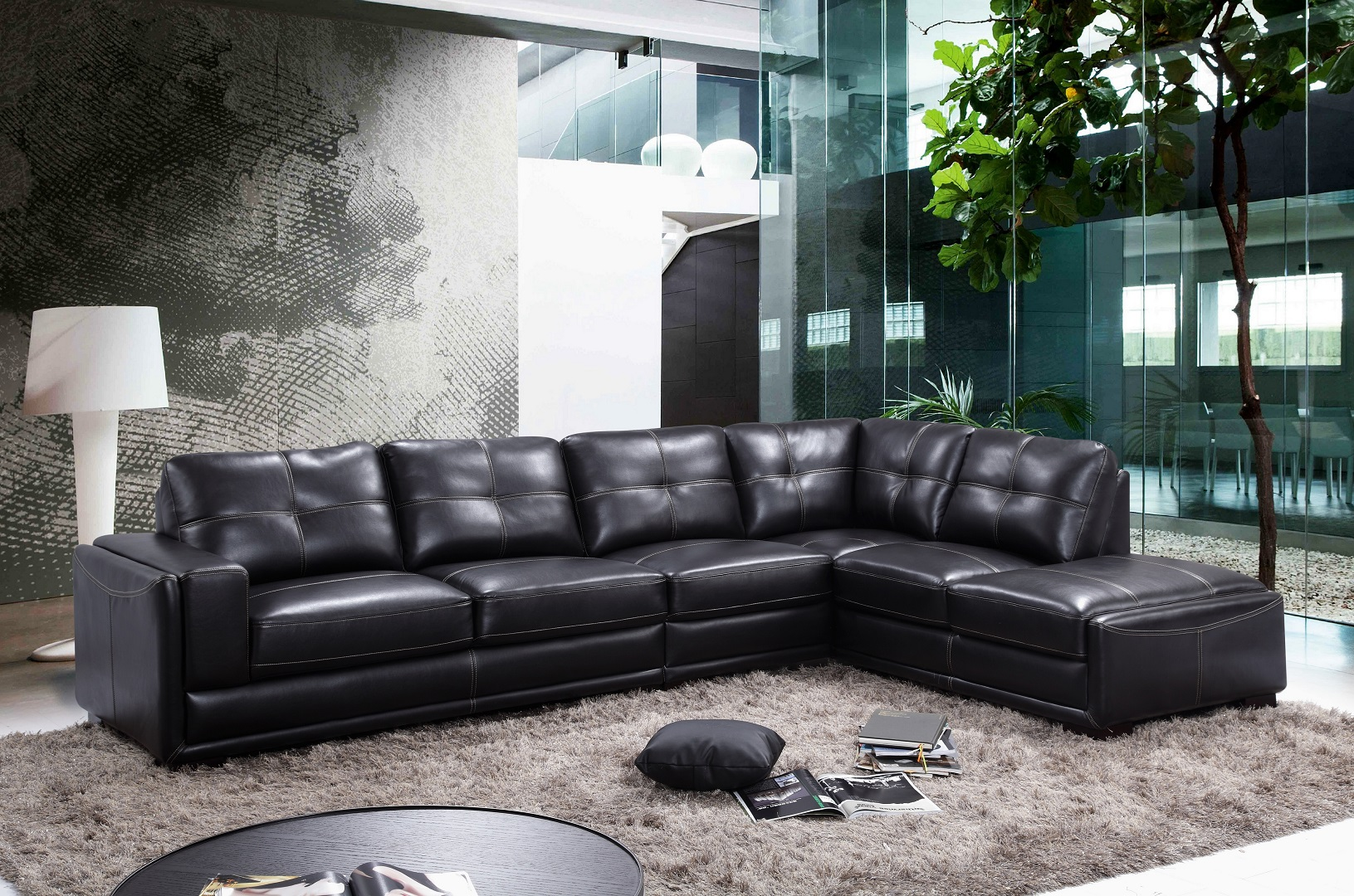 Omar Black Sectional