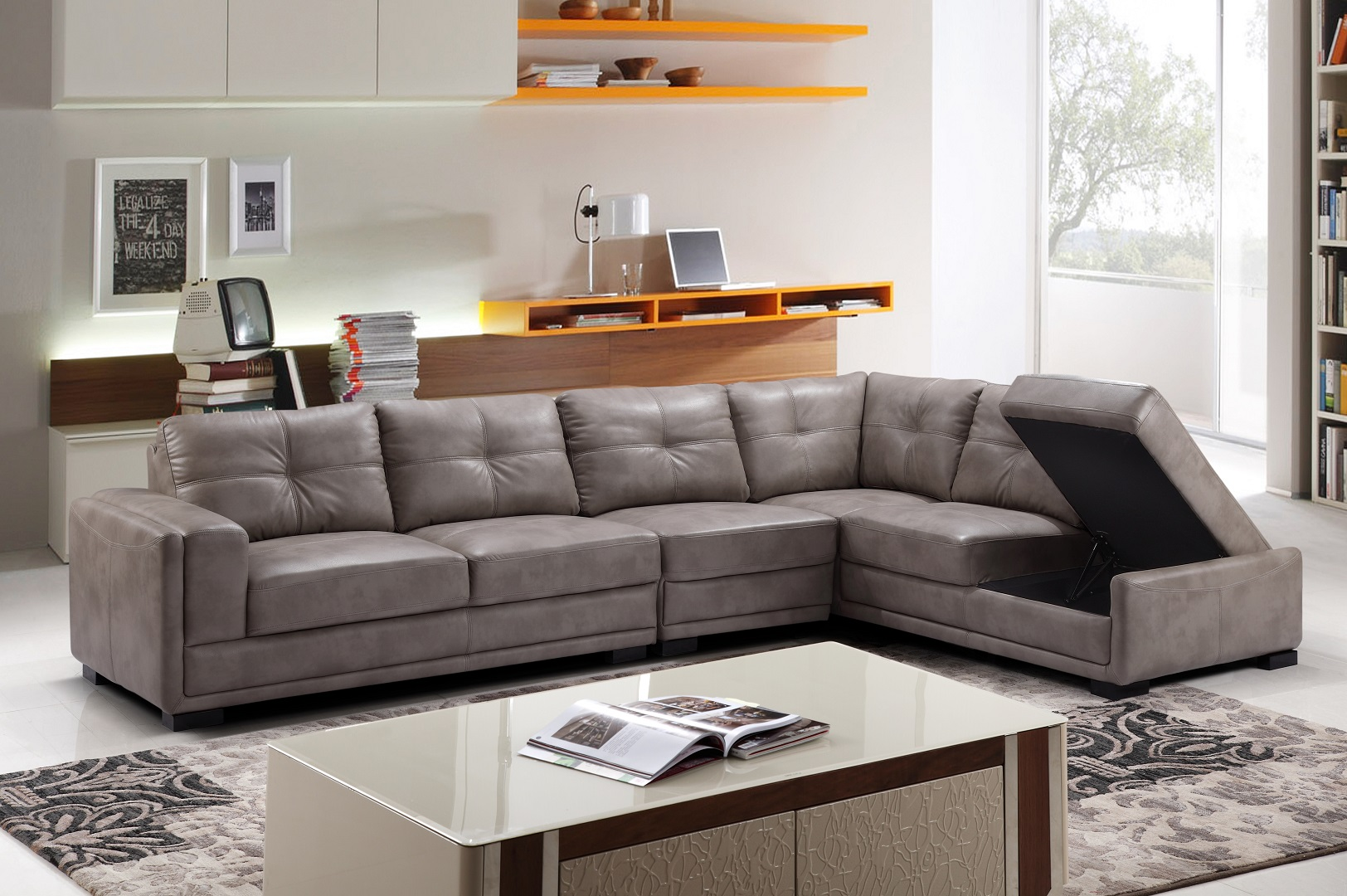 Omar Grey Sectional