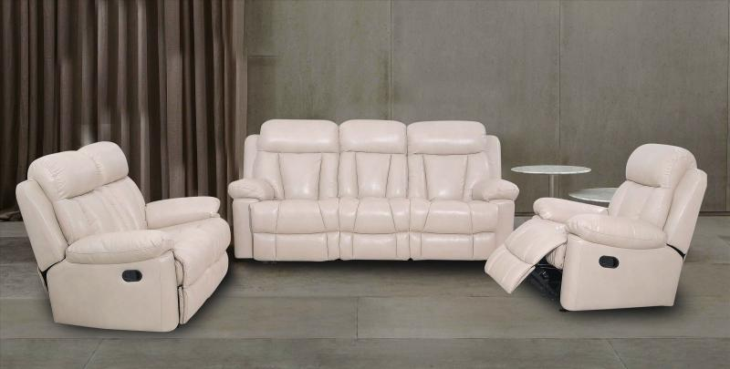 MEG-2765 Recliner Leather Sofa Set