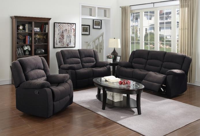 MEG-6765 Recliner Fabric Sofa Set