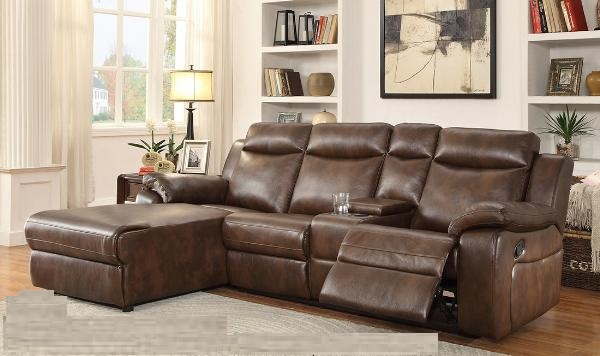 SECTIONAL-9110BRW-IVANKA-Brown
