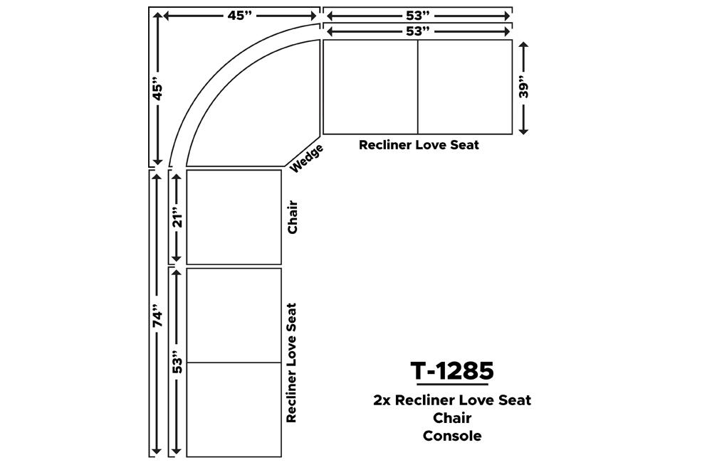RECLINER SECTIOBAL-T-1285-DIAGRAM
