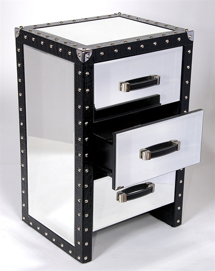 MIRRORED NIGHT TABLE-MDS-40-056-1
