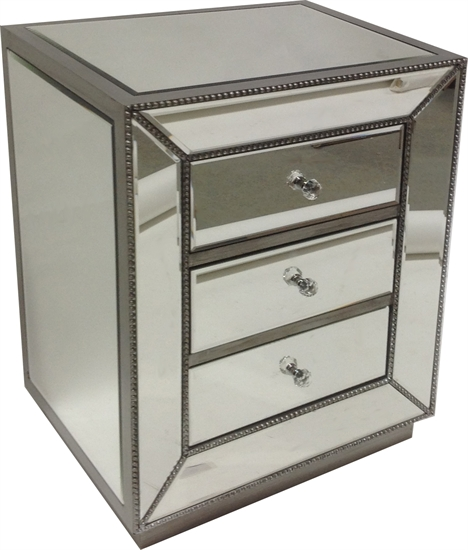 MIRRORED NIGHT TABLE-MDS-40-062-1